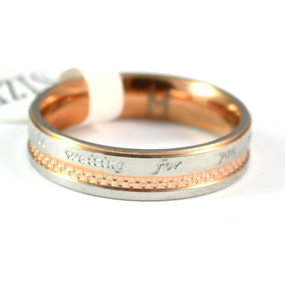 Stainless Steel Ring rosegold *Until Always*