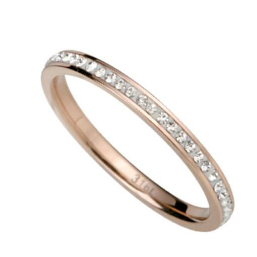 Stainless Steel Ring rosegold with  Swarovski Elements *INFINITY*