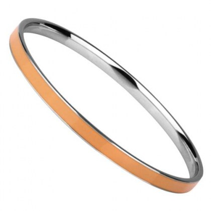 Stainless Steel Bracelet Bangle orange *Glam me*