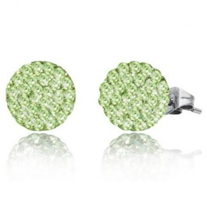 Stainless Steel Earrings with green Swarovski Elements *Speranza*