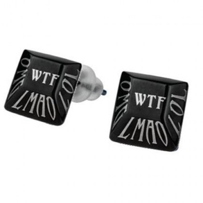 Black Stainless Steel earrings *WTF*