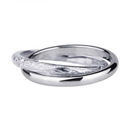 Stainless Steel double Ring *Double Feeling*