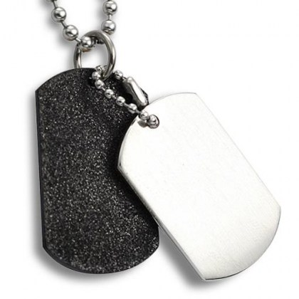 Stainless Steel Pendant black sand effect *YOU eMotiKO*