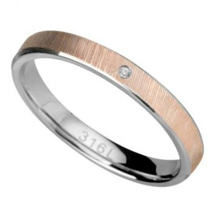 Stainless Steel Ring rosegold color *Armonia*