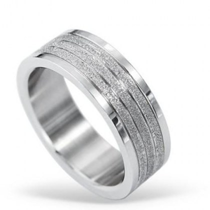 Stainless Steel Ring sand effect  *Sogni e desideri*