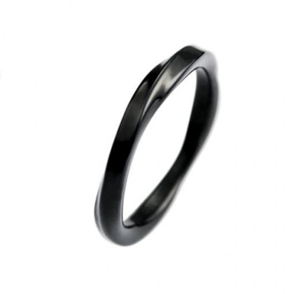 Stainless Steel Ring black PVD *G&G*