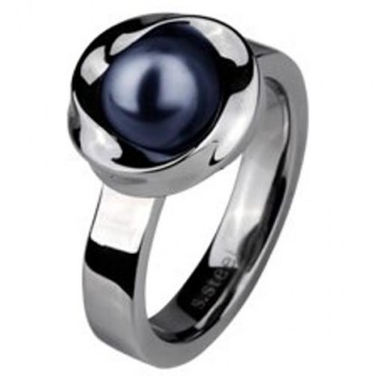 Stainless Steel Ring with river pearl  *Pearl of Nile*