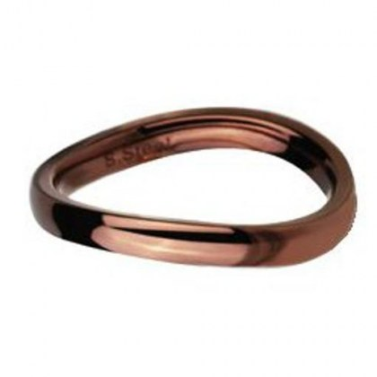 Stainless Steel Ring coffee color *Colours of Desert*