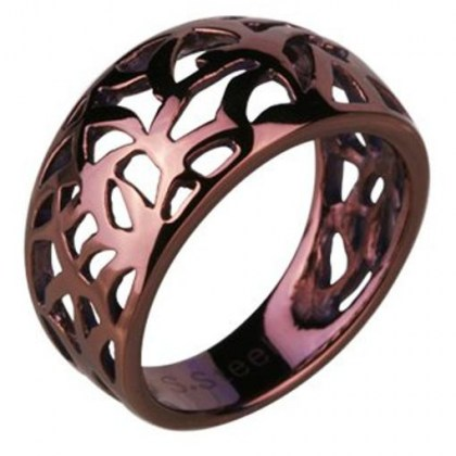 Stainless Steel Ring *Chocolat*