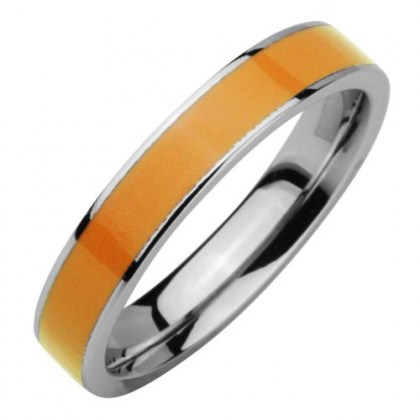 Stainless Steel Ring *Glam me* orange PVD