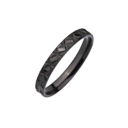 Stainless Steel Ring black PVD *Fix you*