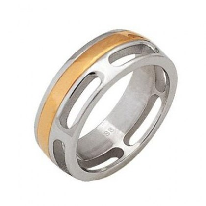 Stainless Steel Ring (cod.RSCL23 GOLD)