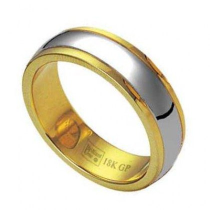Stainless Steel Ring gold 18k (cod.RSGL10)
